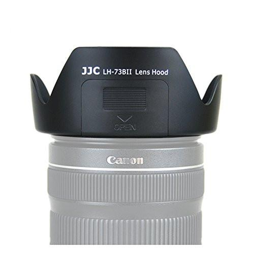 JJC LH-73BII Lens Hood for Canon 17-85mm f/4-5.6 18-135mm f/3.5-5.6 IS EW-73B With Side Window