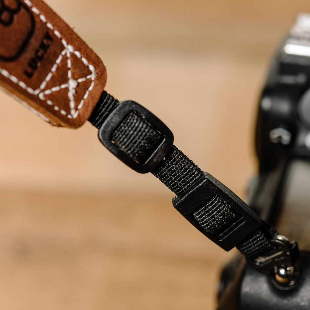 Lucky Straps Leather Camera Wrist Strap - Brown