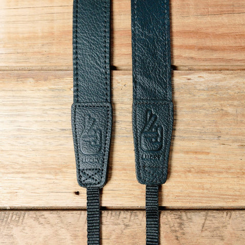 Lucky Straps Slim 30 LONG Leather Camera Strap - CONTRAST Black