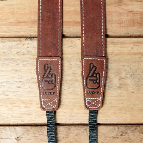 Lucky Straps Slim 30 LONG Leather Camera Strap - Classic Brown