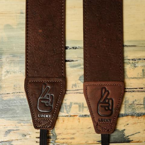 Lucky Straps Standard 53 Classic Leather Camera Strap - Dark Brown Relic