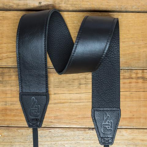 Lucky Straps Standard 53 LONG Leather Camera Strap - CONTRAST Black