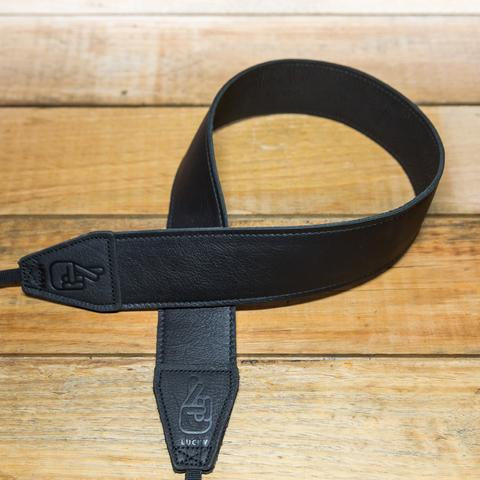 Lucky Straps Standard 53 Leather Camera Strap - CONTRAST Black