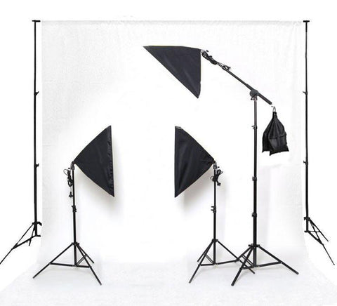 Hypop Rectangle Softbox Boom Arm Kit (Includes: Backdrop Stand & Paper Roll) exclude