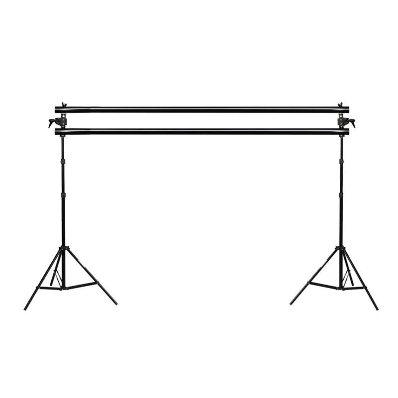 Hypop Backdrop Stand Dual Cross Bar With Adapter Kit For 2 Backgrounds exclude