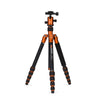MeFOTO Roadtrip Convertible Tripod Kit Aluminium - Orange