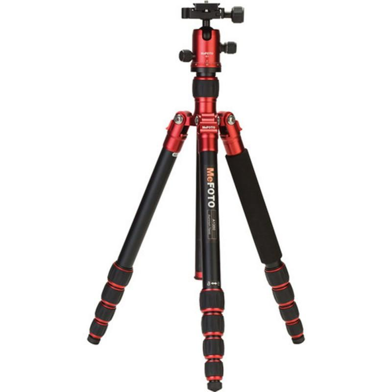 MeFOTO Roadtrip Convertible Tripod Kit Aluminium - Red