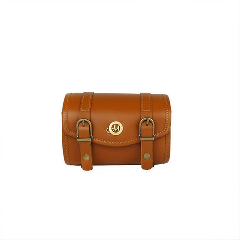 Tan Brown Melten Classic Mirrorless Leather Camera Case - Harper