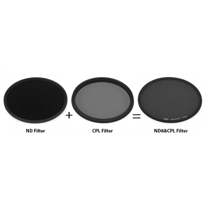 NiSi 77mm ND 0.9 Neutral Density 3 Stop & Circular Polarising Filter exclude