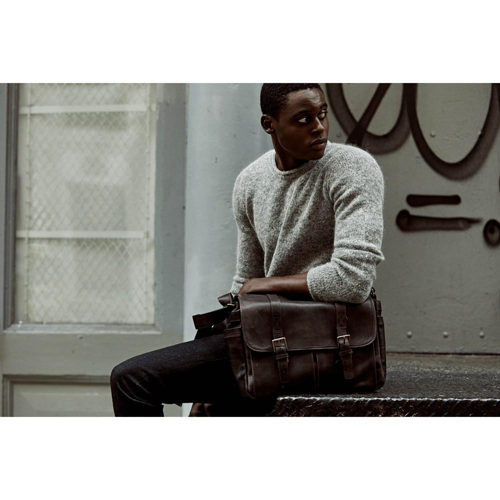 ONA Brixton Camera/Laptop Messenger Bag - Dark Truffle (ONA5-013LDB)