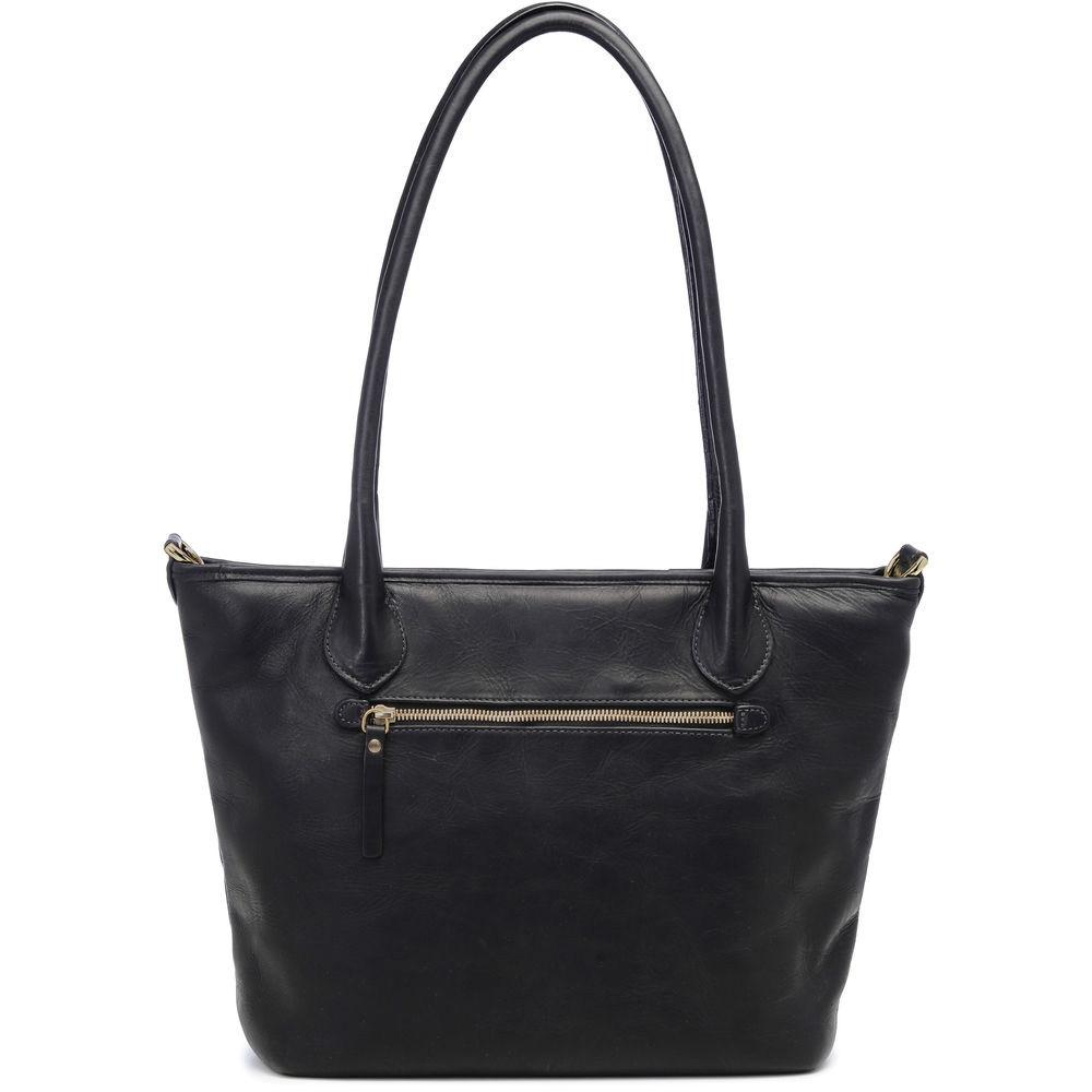 ONA Leather Capri Camera Tote Bag - Black Italian-tanned leather. (ONA009LBL)