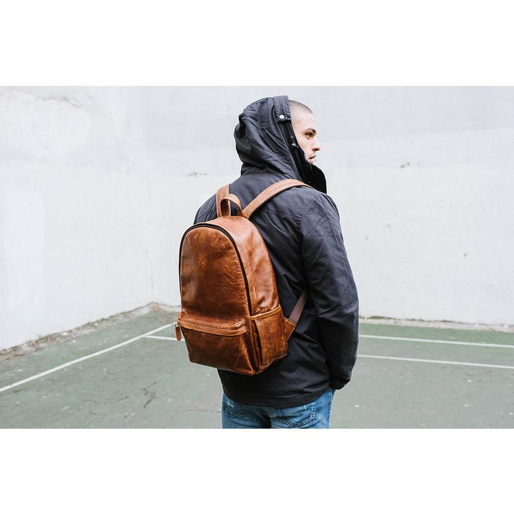 ONA The Clifton Camera and Everyday Leather Backpack (Antique Cognac)