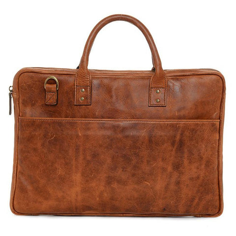 ONA The Leather Kingston Laptop Briefcase - Antique Cognac (ONA040LBR)