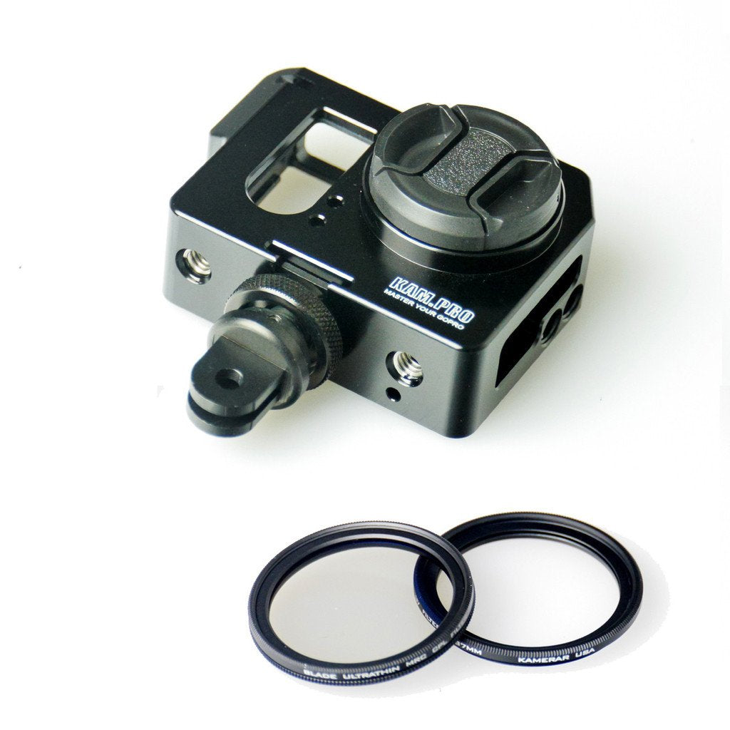 Kamerar Pico Cage with Thin Premium UV & CPL Filters for GoPro Hero Camera