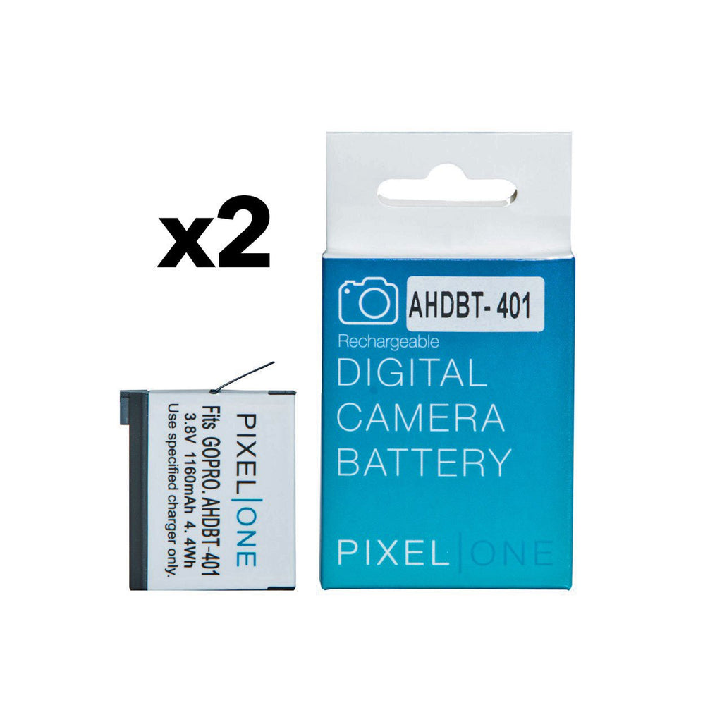 Pixel One Dual Battery Charger Set for GoPro HD Hero4 AHDBT-401