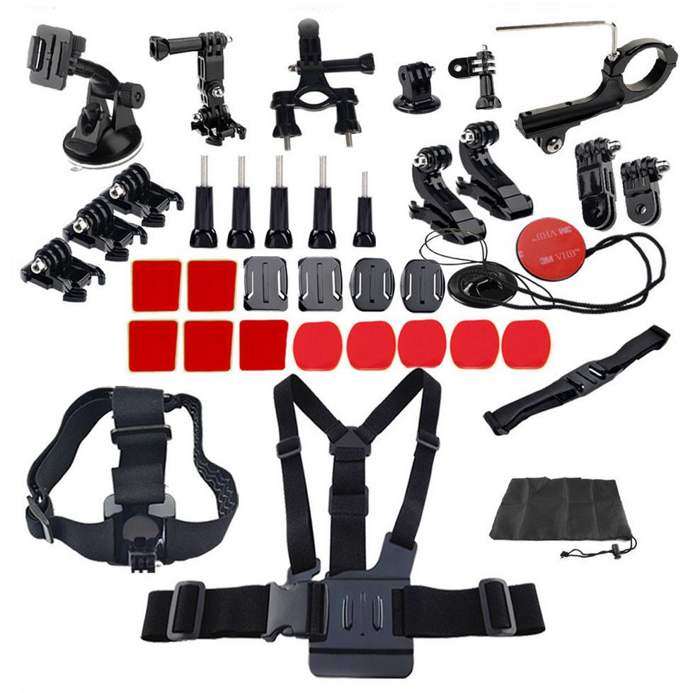 Hypop GoPro 35 in 1 Accessory Kit for Head Chest & Cycling with 3M Adhesive Set exclude