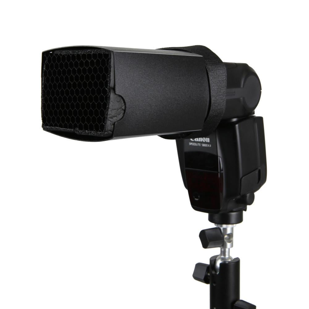 Hypop Flash Snoot with 20 Degree Grids honeycomb for Speedlite Flash
