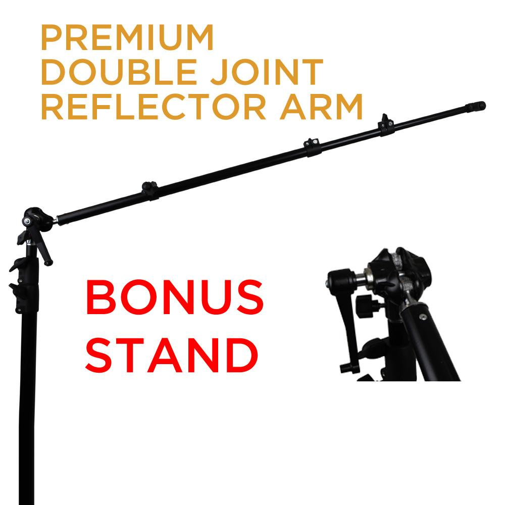 Hypop Premium Ball Head Reflector Stand Boom Arm Set