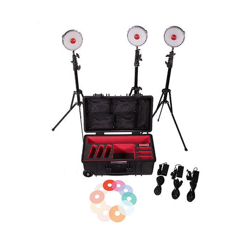 Rotolight NEO 2 LED Three Light Kit Including Stands & Hard Case