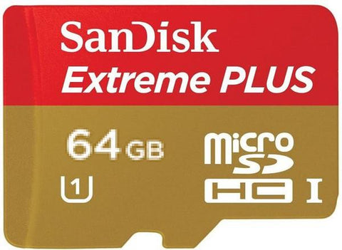 SanDisk EXTREME®PLUS MICRO SDHC™ C 10 CARDS Read 80MB/s Write Speed 533x exclude