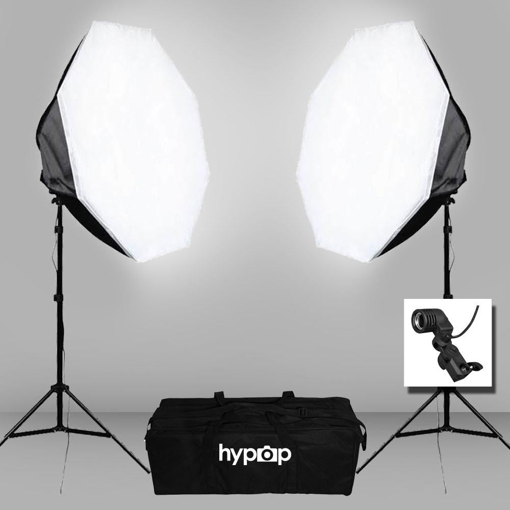 Hypop Double 90cm Octagon Collapsible Portable Softbox Lighting Set