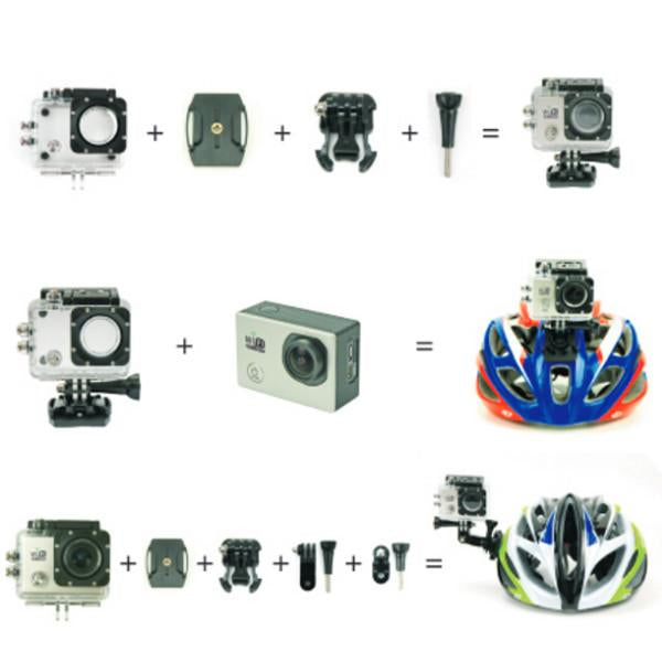 Action Sports Waterproof Wi-fi Camera & Complete Accessory Kit Full HD 1080p Video Photo Helmetcam SJ6000 DV