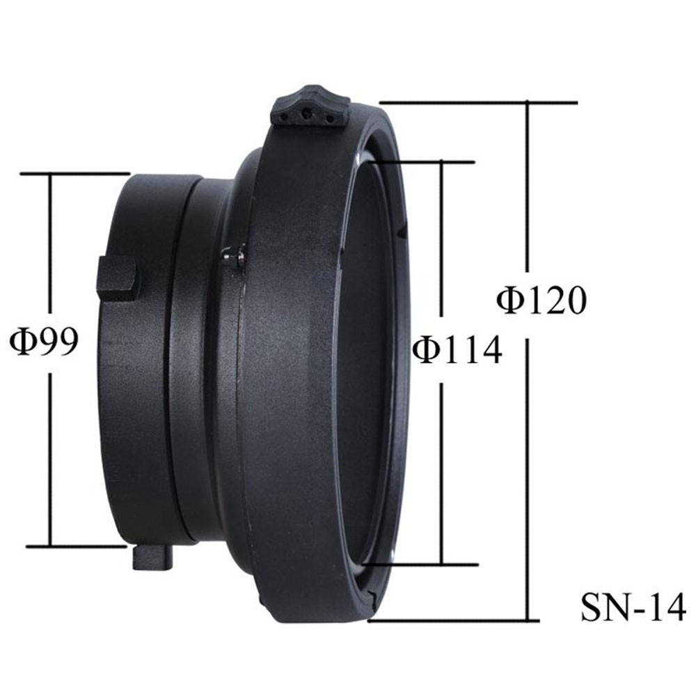 Bowens to Elinchrom Interchangeable Mount Adapter Ring