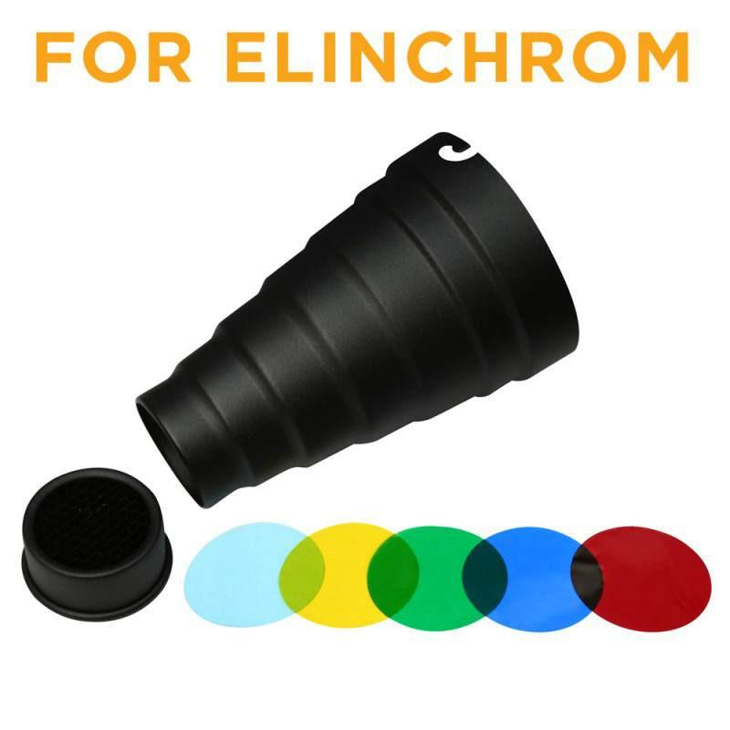 WI: 1 x Snoot for Elinchrom with 5 gels and honeycomb