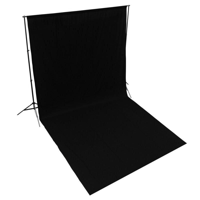 WI: 1 x Solid Black 3M x 6M Cotton Muslin Backdrop