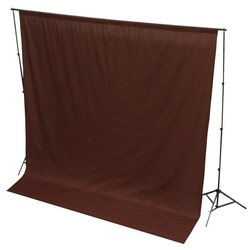 WI: 1 x Solid Brown 3M x 3M Cotton Muslin Backdrop