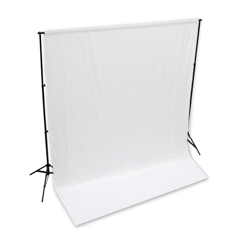 WI: 1 x Solid White 3M x 3M Cotton Muslin Backdrop