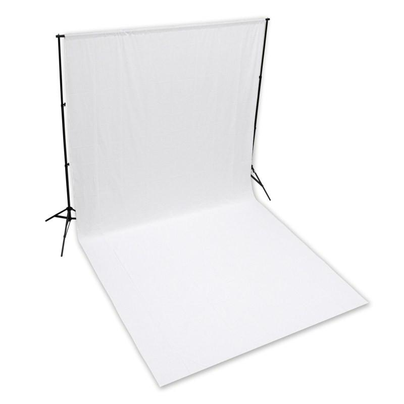 Hypop Solid White 3M x 6M Cotton Muslin Background