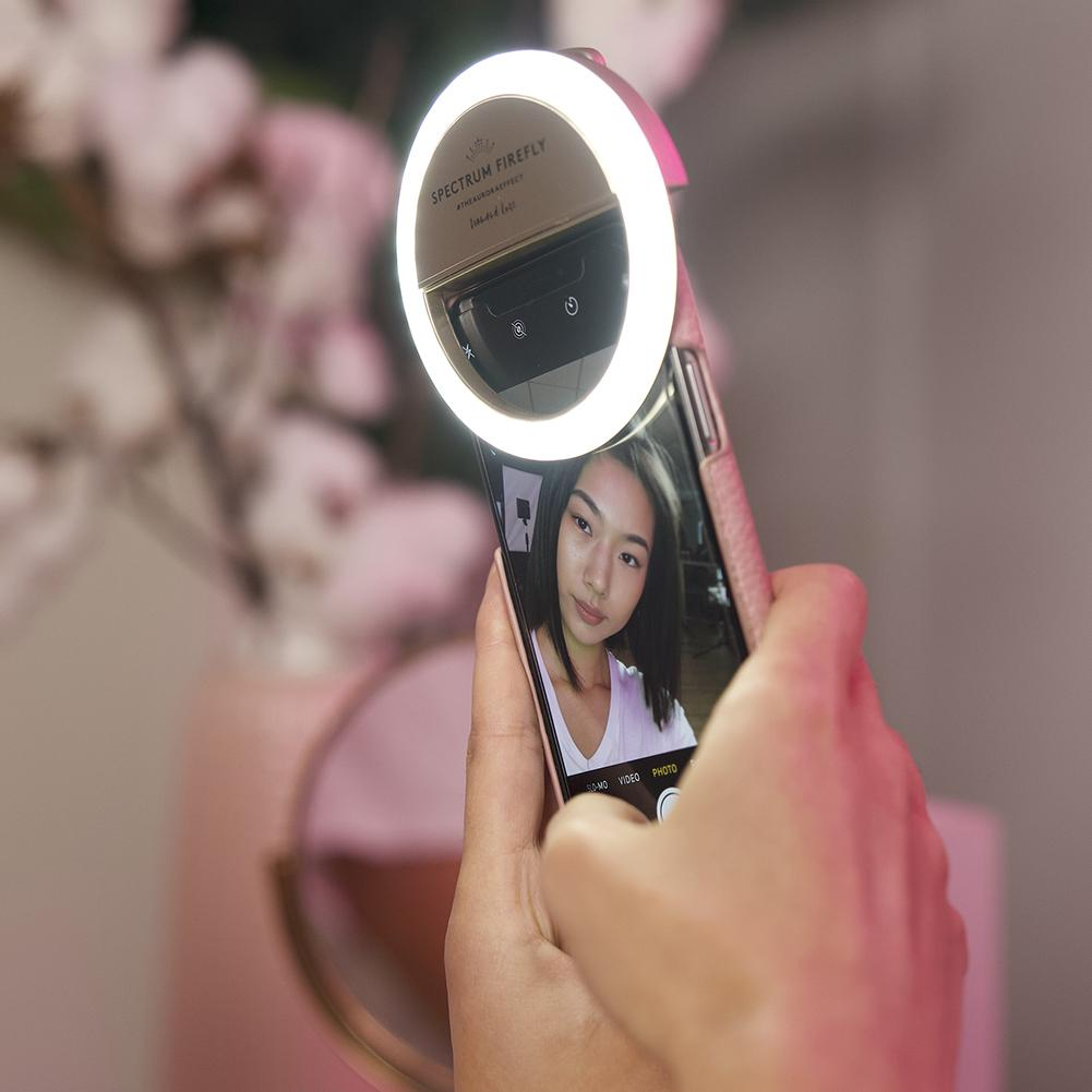 Winter White Spectrum Aurora Selfie Phone Ring Light Diamond-Luxe Firefly