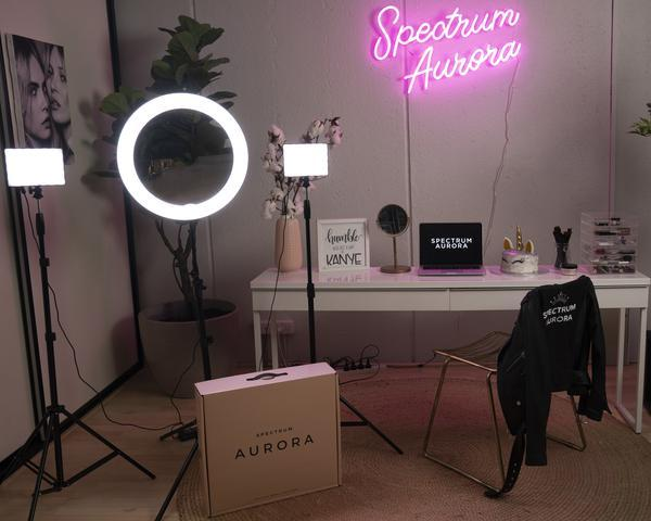Spectrum Aurora Gold Luxe Ring Light 3 Point LED 'YouTube Pro Kit'