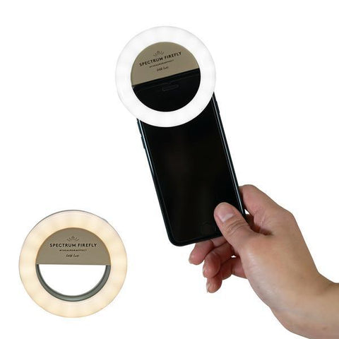 GOLD RUSH SPECTRUM AURORA SELFIE PHONE RING LIGHT GOLD-LUXE FIREFLY