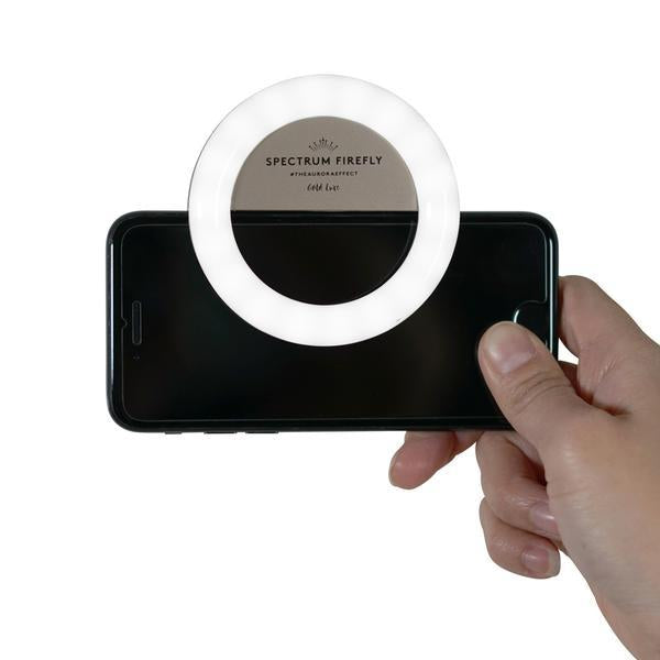 Gold Rush Spectrum Aurora Selfie Phone Ring Light Gold
