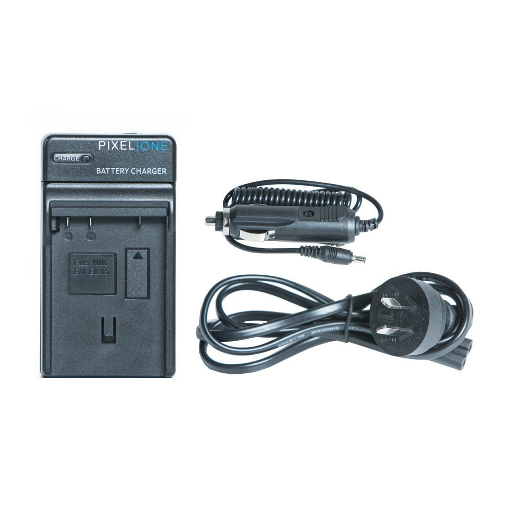 Pixel One MH-25A Battery Charger for Nikon EN-El15 D7000/D800/D600/D7100