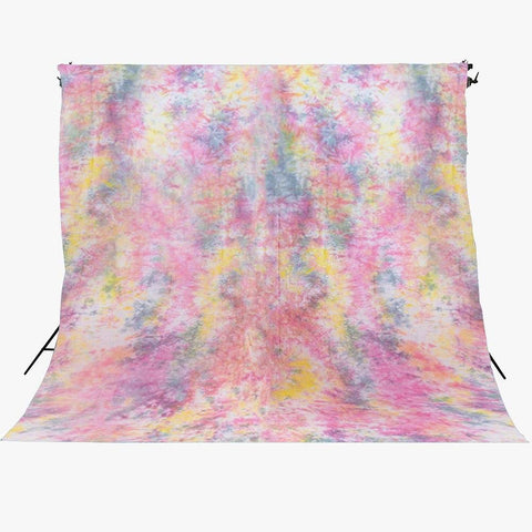 Spectrum Kaleidoscope Series Mottled Cotton Muslin Backdrop 3m x 6m - Life's A Festival (Multi Colour)