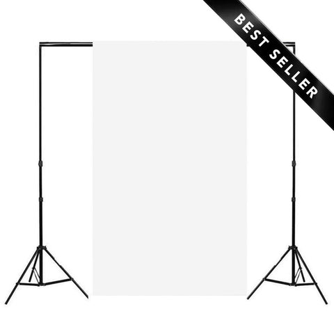 Spectrum Marshmallow White Non-Reflective Half Length Paper Roll Backdrop (1.36 x 10M)