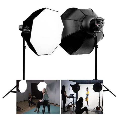 Spectrum-PRO DUO 'S-Beam 150' LED Softbox Advanced Fashion Lookbook Lighting Kit