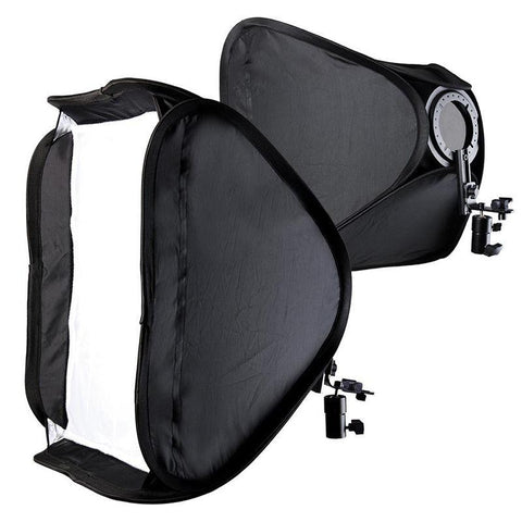 Hypop Off Camera Flash Double Soft Box Set for Speedlites (Stands Excluded) exclude