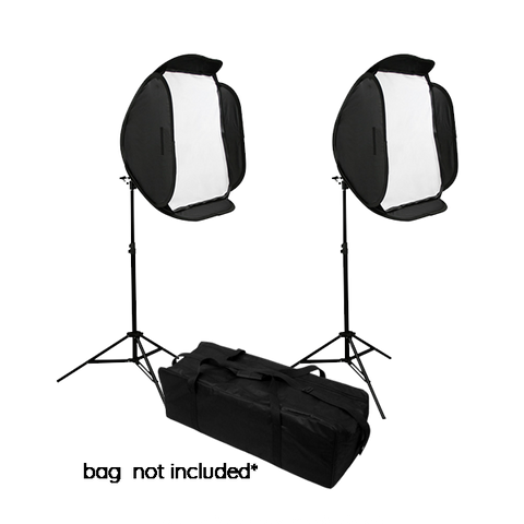 Hypop Off Camera Flash (OCF) Double Soft Box Kit for Speedlites (Flash Excluded) exclude