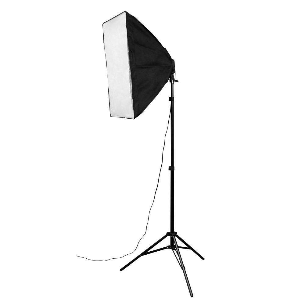 Hypop Triple Rectangle Softbox Boom Arm Kit (Includes: Backdrop Stand & Muslin)