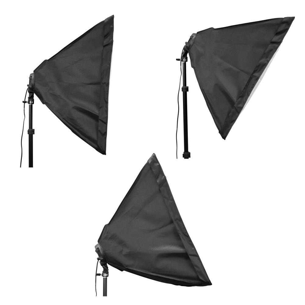 WI: 3 x Rectangle Softboxes