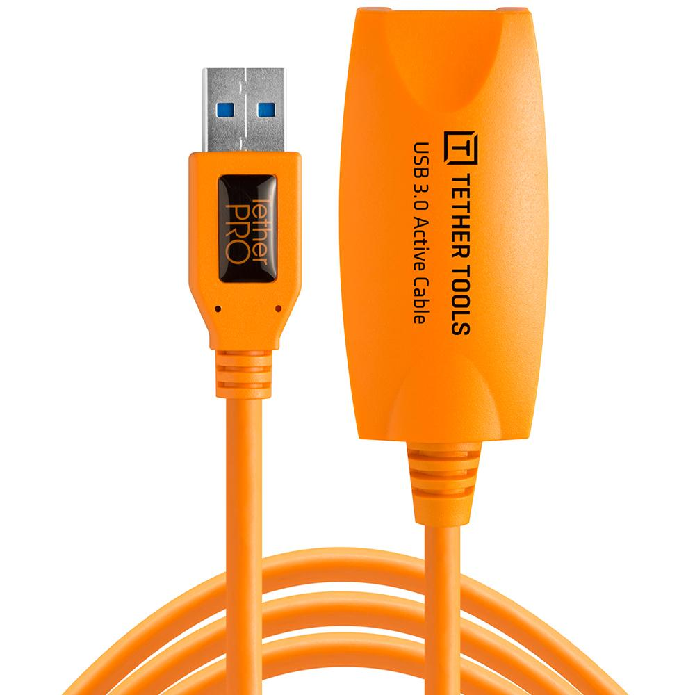 TetherPro USB 3 5m Active Extension Cable (Hi-Vis Orange)