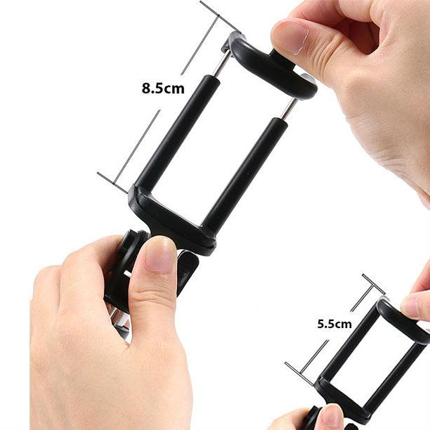 Universal Extendable Selfie Stick Monopod Tripod for Android iOS iPhone 6 6S 7 Plus (Black)