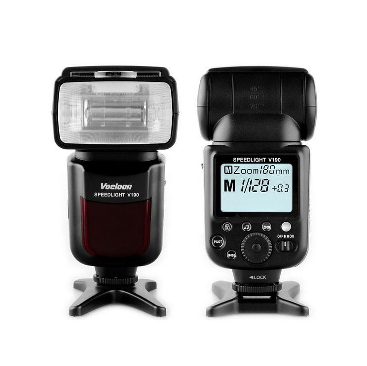 Voeloon V190 Premium Speedlight Universal Flash for Canon & Nikon exclude