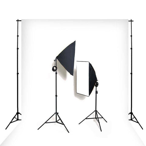 Hypop Double Rectangle Softbox Kit (Includes: Backdrop Stand & Muslin) exclude