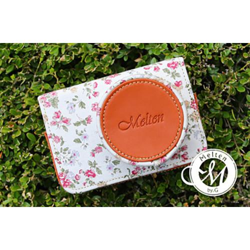 Melten Mirrorless Camera Leather Full Case - White Flower