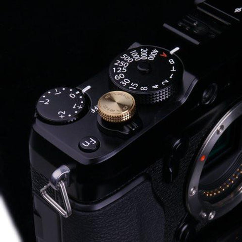 Gariz Sticker Type Soft Button Gunmetal XA-SB7 for Sony, Fuji, Canon, Nikon, Lumix, Leica